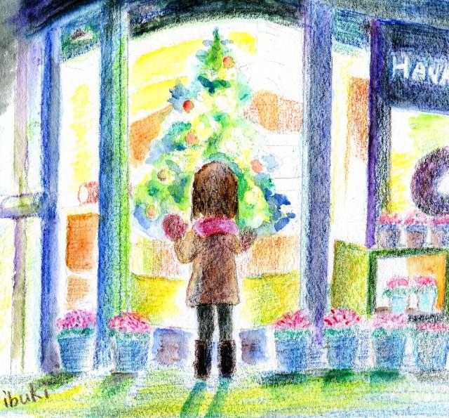 花屋のクリスマスツリー
